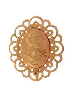 Broche de flamenca camafeo dorado