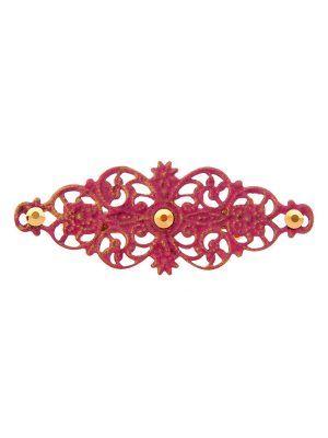 Broche de flamenca con filigrana tono fresa satinada en oro