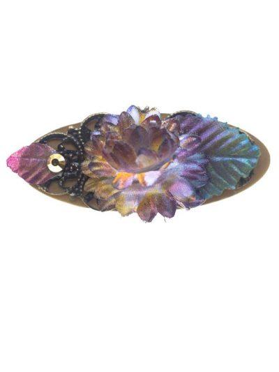 Broche de flamenca con flor de tela