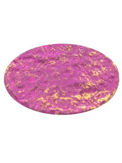 Bougainvillea cracked flamenco brooch with golden highlights