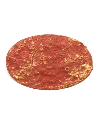 Flamenco broca cracked coral with golden highlights