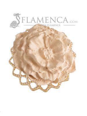 Broche de flamenca de porcelana beige