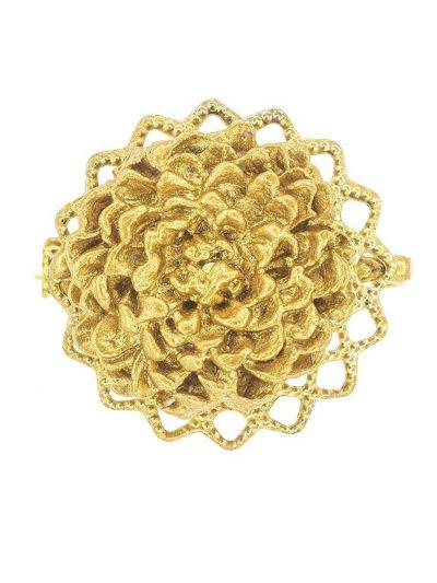 Broche de flamenca de porcelana color con reflejos dorados