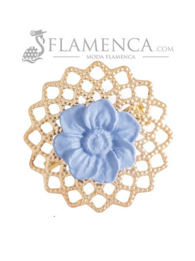 Broche de flamenca de porcelana ducado