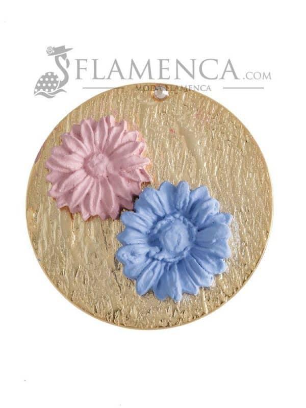 Broche de flamenca de porcelana ducado y maquillaje