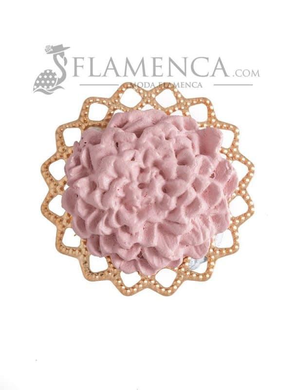 Broche de flamenca de porcelana maquillaje
