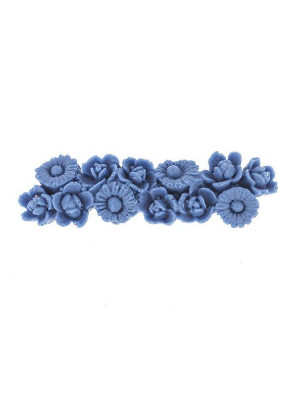 Broche de flamenca de resina azul azafata