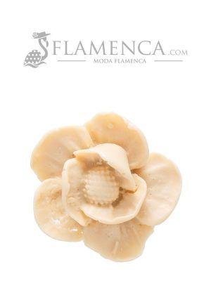 Broche de flamenca de resina beige