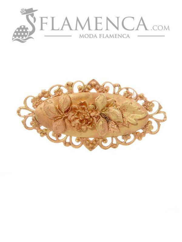 Gold resin flamenco brooch