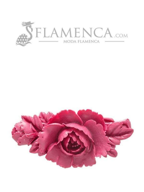 Broche de flamenca de resina cardenal