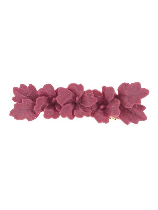 Broche de flamenca de resina color frambuesa