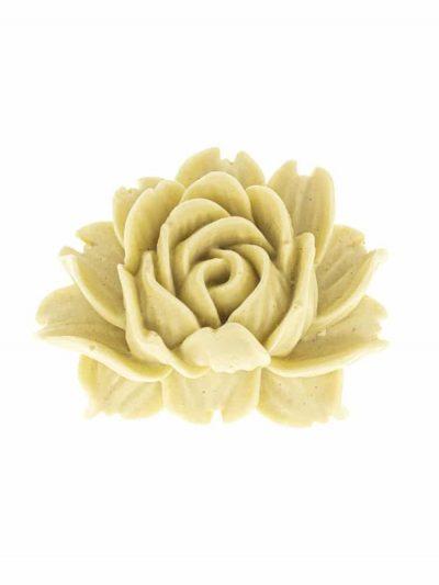 Broche de flamenca de resina color marfil