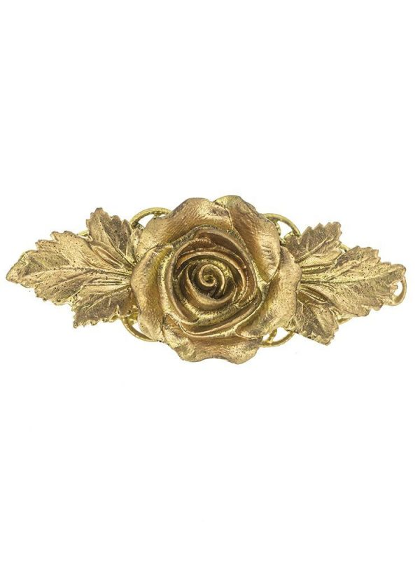Broche de flamenca de resina color oro