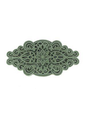 Broche de flamenca de resina color verde caki