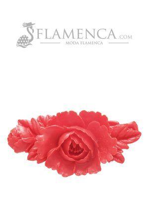 Broche de flamenca de resina coral