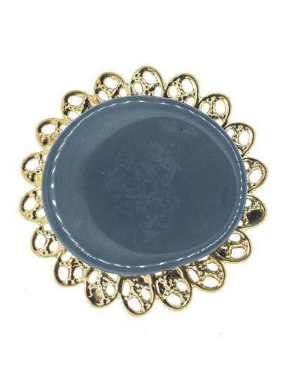 Broche de flamenca de resina cristal azul ducado