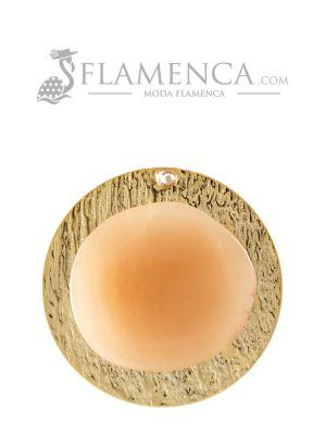 Broche de flamenca de resina cristal beige