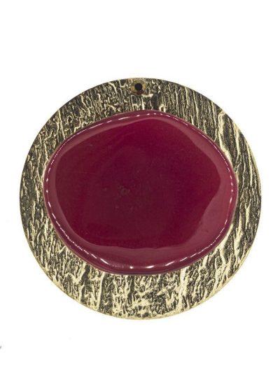 Broche de flamenca de resina cristal buganvilla