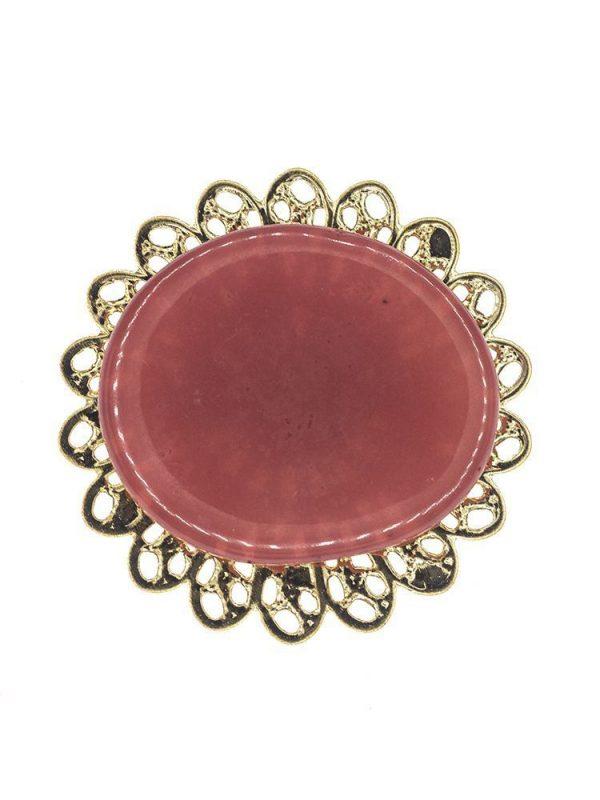 Broche de flamenca de resina cristal carmin
