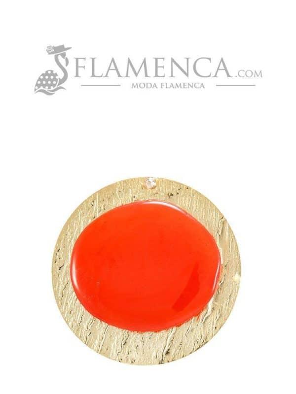 Broche de flamenca de resina cristal coral