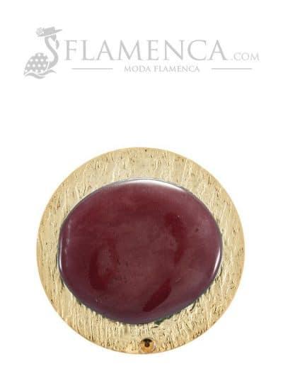 Broche de flamenca de resina cristal maquillaje