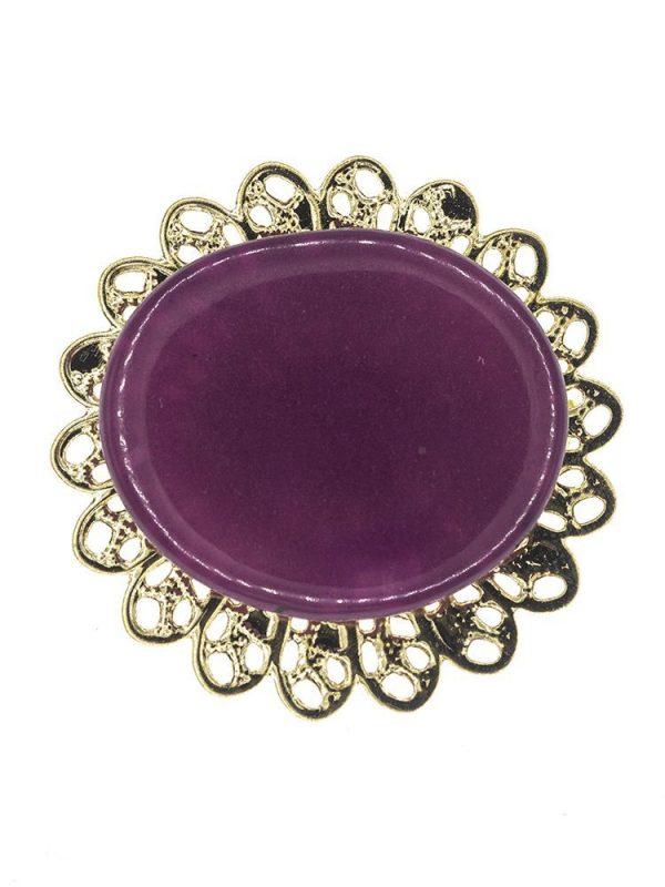 Broche de flamenca de resina cristal morado