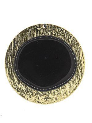 Broche de flamenca de resina cristal negro