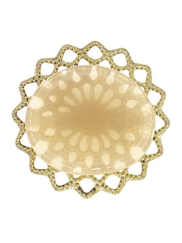 Broche de flamenca de resina cristal nude