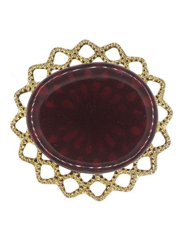 Broche de flamenca de resina cristal rojo oscuro