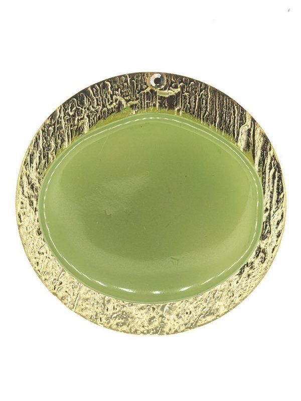 Broche de flamenca de resina cristal verde antiguo