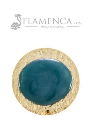 Broche de flamenca de resina cristal zafiro