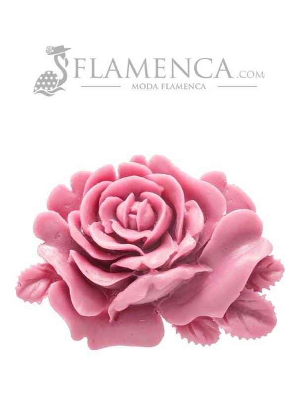 Broche de flamenca de resina malva antiguo