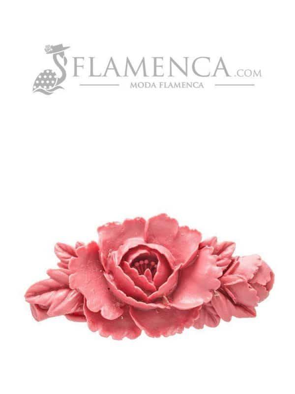 Broche de flamenca de resina maquillaje