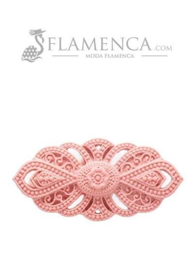 Broche de flamenca de resina maquillaje claro