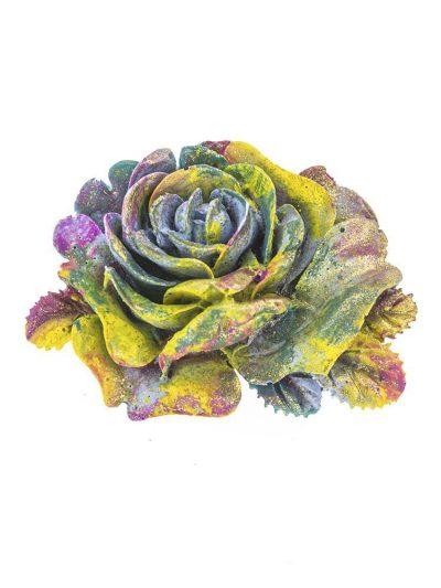 Broche de flamenca de resina multicolor con reflejos dorados