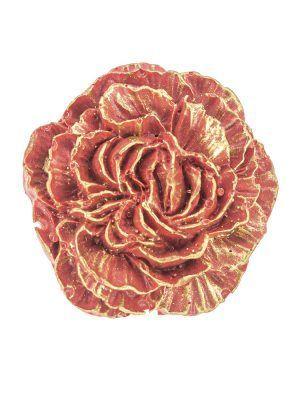 Broche de flamenca de resina rojo con reflejos dorados