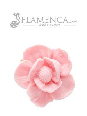 Broche de flamenca de resina rosa bebé