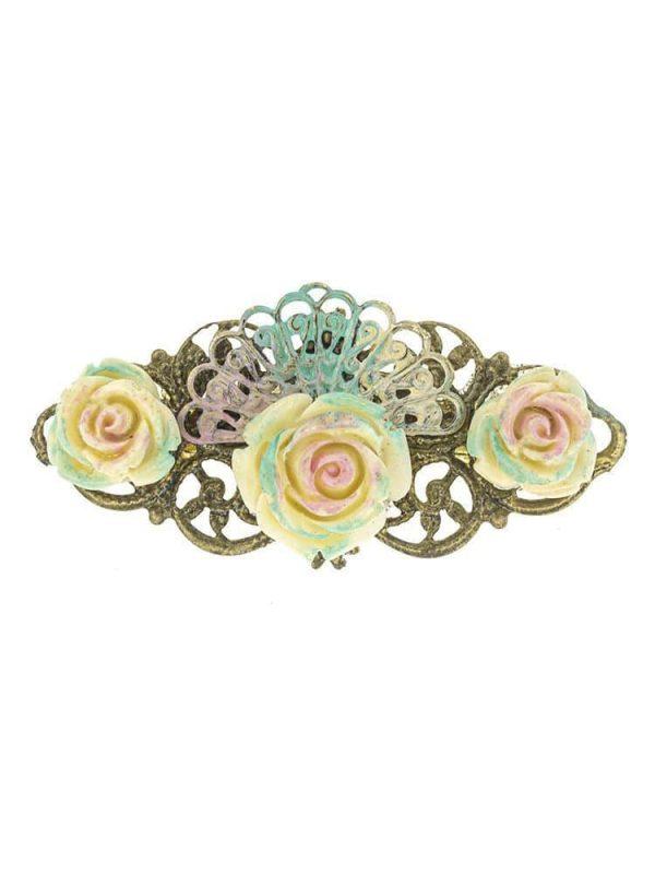 Broche de flamenca de resina tonos pastel
