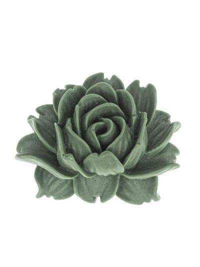 Broche de flamenca de resina verde caki