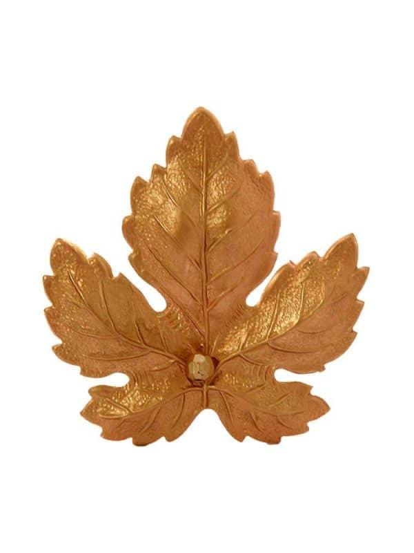 Broche de flamenca hoja dorada