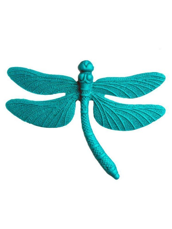 Broche de flamenca libélula de resina agua marina