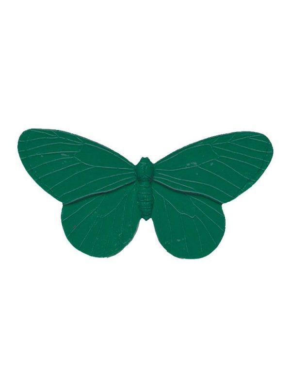 Broche de flamenca mariposa de resina color verde botella