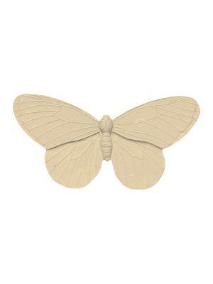 Broche de flamenca mariposa de resina color beig