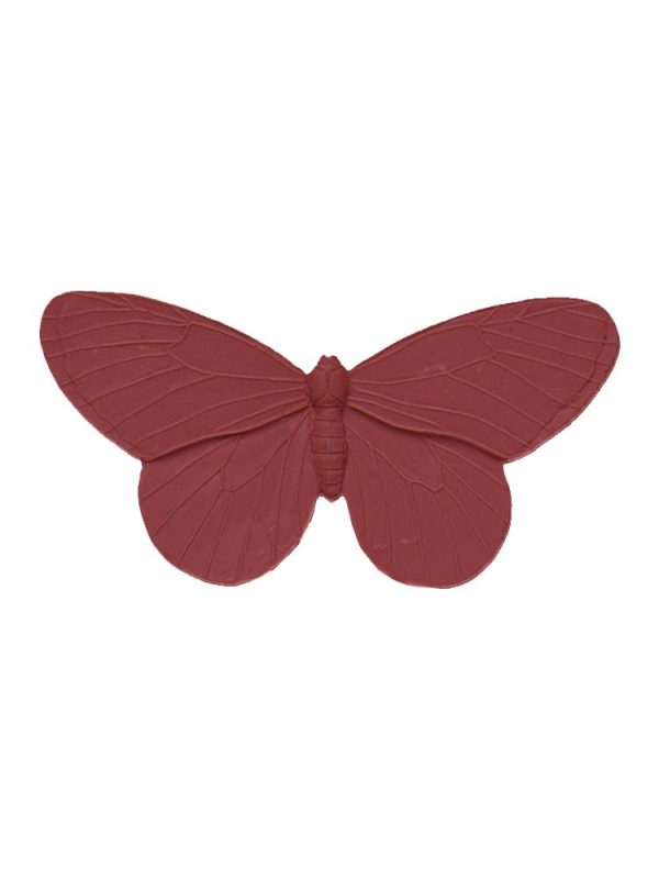 Burgundy resin butterfly flamenco brooch