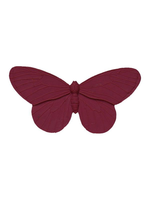 Flamenca raspberry resin butterfly brooch