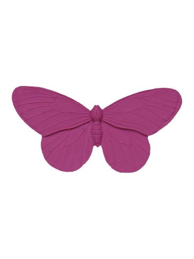 Broche de flamenca mariposa de resina color buganvilla