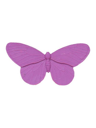 Flamenca brooch butterfly resin mauve