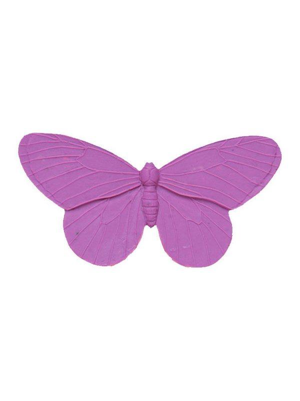 Broche de flamenca mariposa de resina color malva