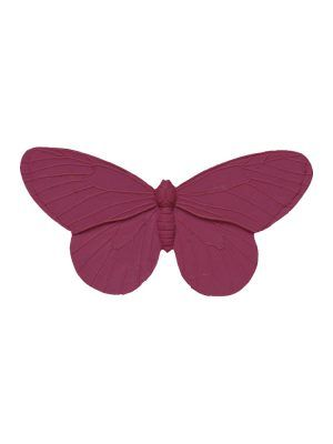 Flamenca brooch butterfly resin old mauve