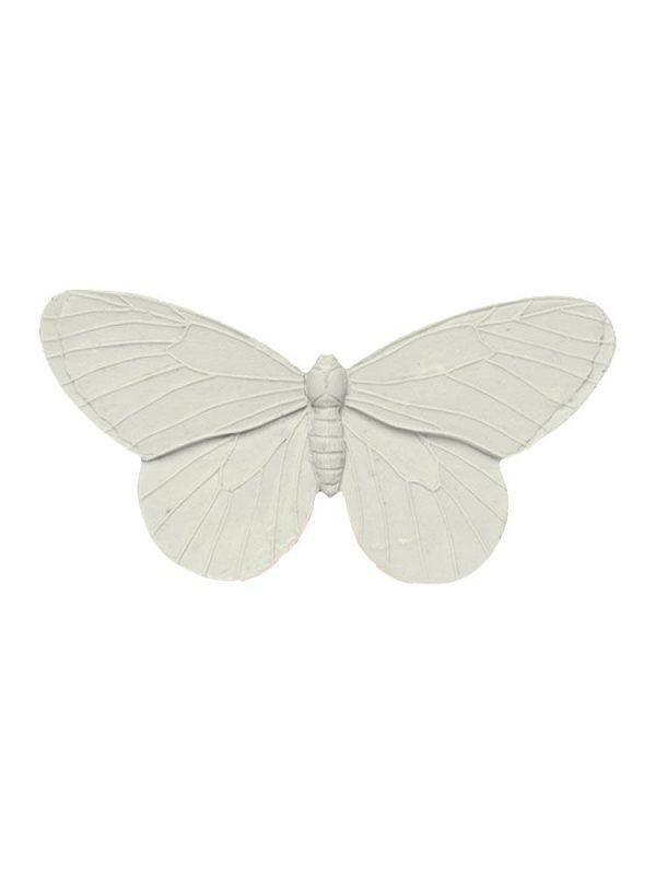 Broche de flamenca mariposa de resina color marfil